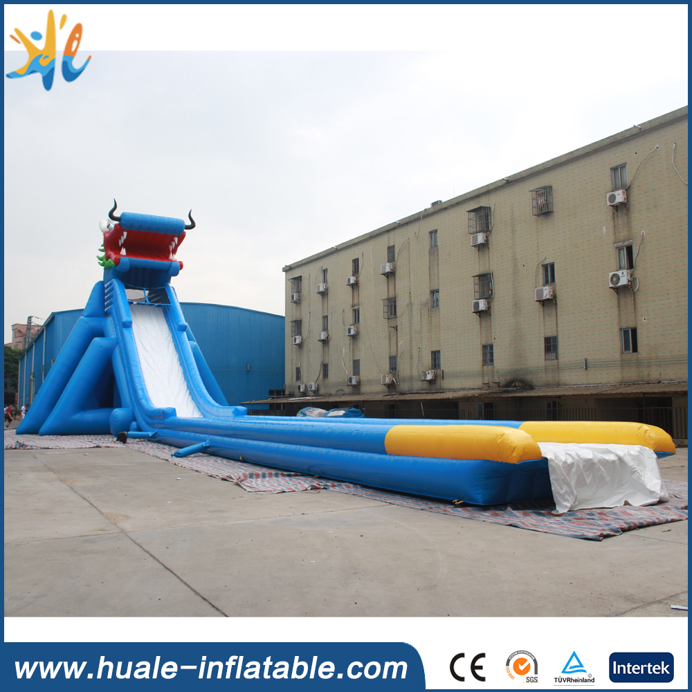 2016 new design dragon giant inflatable water slide for adult