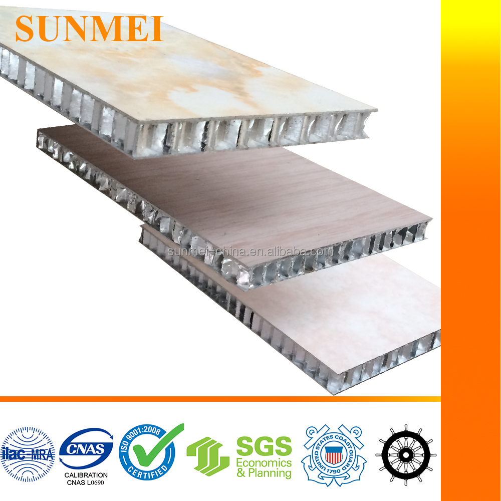 fire retardant marble-look aluminum honeycomb core sandwich wall panel