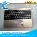 "Laptop Topcase with keyboard For Macbook 12"" A1534 Upper Case with UK Version keyboard 2016"