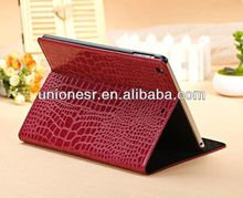 Accept paypal crocodile pattern for ipad 5 leather stand case