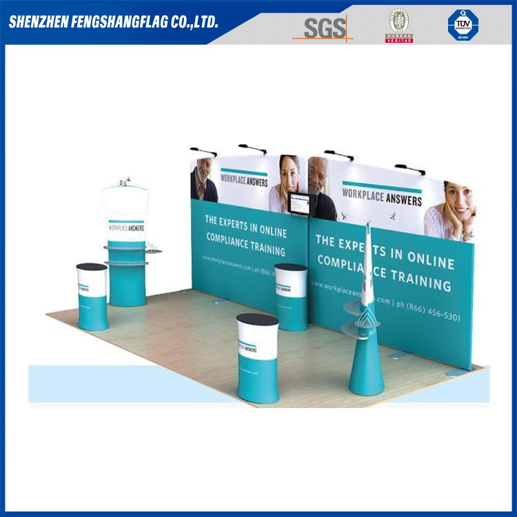 10ft 10x20 trade show backdrop stand curved exhibition booth system panel