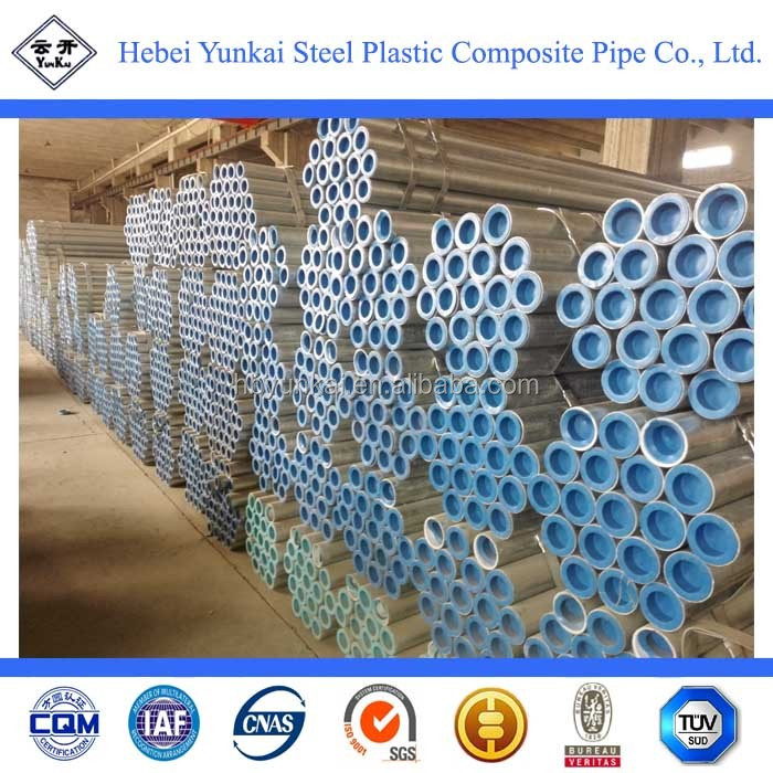 BEST PRICE! LINING PLASTIC GALVANIZED STEEL PIPE FOR WATER SUPPLY/ STEEL PIPES OF LINING PLASTIC