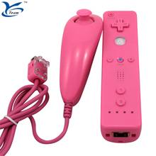 2 in 1 Built-in motion plus right hand+left hand Nunchuck Controller For nintendo Wii