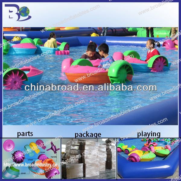 HOT!! aqua paddle boat,water ride bike/paddle boat for kids