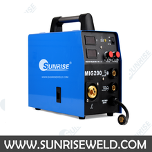 SUNRISE brand professional inverter DC IGBT MIG-200 Multifunctional MMA/TIG/MAG single phase co2 gas welder