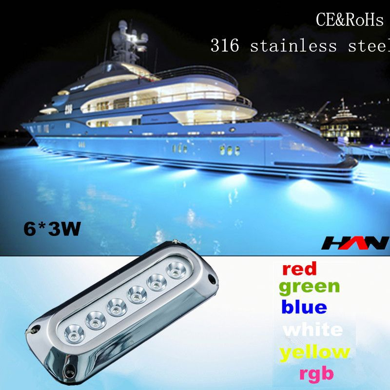 2015 New Arrival 18W Wateproof IP68 Multi Color Led Swimming Pool Light