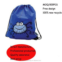 promotional polyester recycle drawstring bag