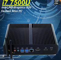 Newest 7th Gen Core i7 7500U Eglobal Fanless Mini PC Intel HD Graphics 620 Win10 300M Wifi Kaby Lake 14nm Desktop Computer