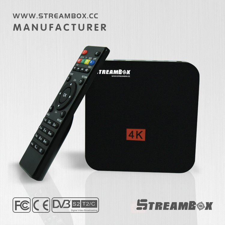StreamBox Set Top Box RK99 4K Android TV Digital International wireless Satellite TV Receiver