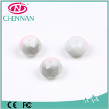 fashion accessories for hair styling Hot Sale Fancy Spray paint Glass Beads