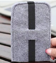 5.5 inch mobile phone case, felt wallet case for cell phone sleeve with ID card & credit card slots