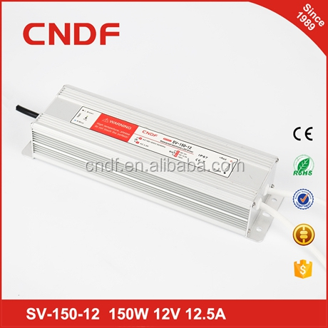 CNDF LED electronic display 150W 24v 6.5A LED waterproof switch power supply