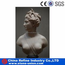 White marble lady bust statue