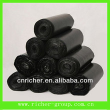 different size biodegradable black garbage bag trash bag bin liner on roll