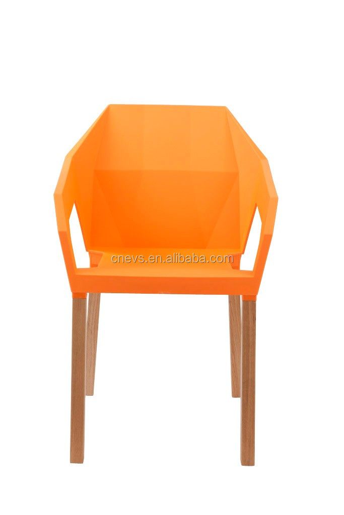 High Quality Plastic Leisure Chair Wooden Legs PP Leisure Chair
