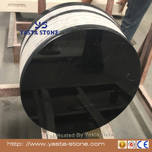 24 inches natural black Margiua marble round table tops