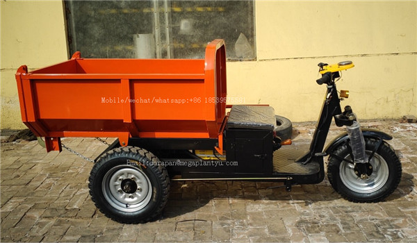 Electric Mini Dumper 1000kg Self Loading Dumper Electrico Allterrain Three Wheel Drive Mini Truck For Easy Garden Work