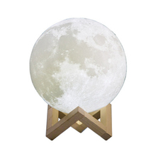 Warm & Cool White Dimmable Touch Control Brightness USB Charging LED PLA 3D printing moon lamp nightlight