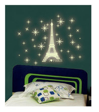 A4 Sticker Paper Cartoon Switch Stickers Various Type Kids Living Room Glowing Dark Wall Stickers