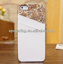 Fashion Design mobile phone leather case for iphone 5G 5S with card slots