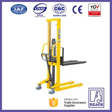Hot sale fixed forks 500 kg hydraulic hand manual pallet stacker forklift