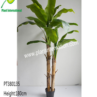 Artificial Three Trunks Banana Trees Outdoor