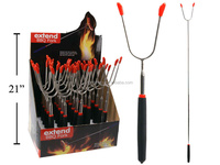 wholesale Stainless steel Telescopic BBQ spit fork
