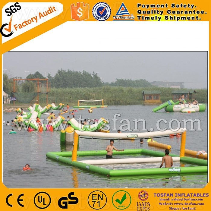 Floating inflatable water volleyball court A9019A