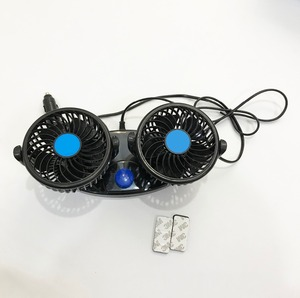 DC 12V Or 24V Double Head Fan Car Cooling Fan With Plastic Leaves (BT CF07)