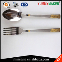 New style different kinds of flatware gold plated handle Flatware