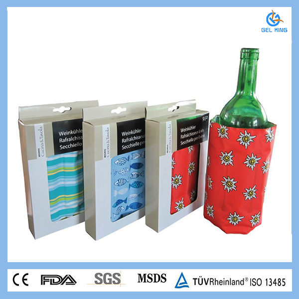 BF-275grams pvc promotional item gel ice bag for wine