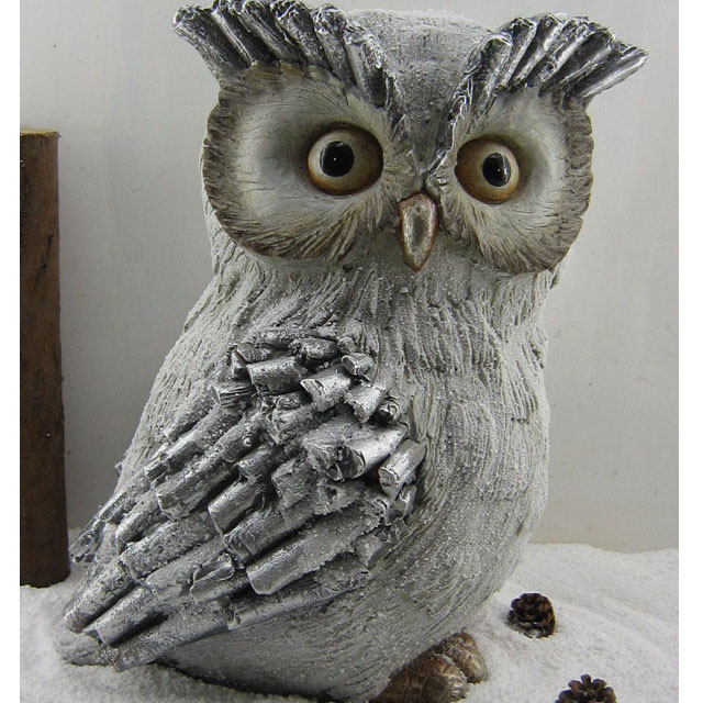 outdoor owl decoration stone molds resin Mgo Garden Statue