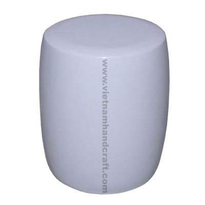 Quality eco-friendly handpainted vietnamese drum shaped lacquer home furnishing products in white