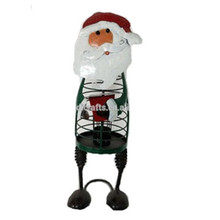 Christmas Occasion Metal Santa Candle Stand For Decoration