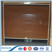 Single panel wood look garage door with PU inside | Insulated sectional garage door