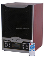 7 stages purification ionizer air purifier with large LCD display and remote controller