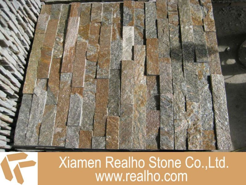 Rusty Multi-colot Natural Cultural Stone Slate Wall Tile