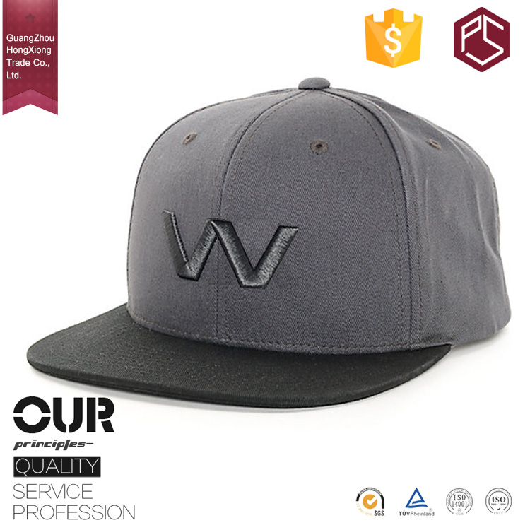HongXiong factory OEM design your own logo 6 panel plastic buckle embroidered custom snapback cap