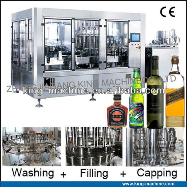 Full automatic alcoholic beverage filling machine / equipment