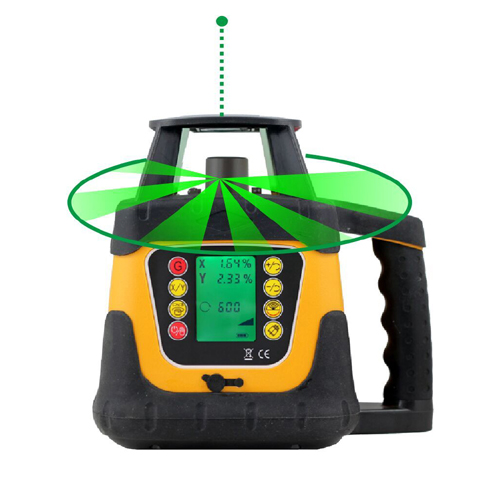 Rotary Laser Level 400HVG Green Beam Laser Level with Setting Slope Function & LCD Display