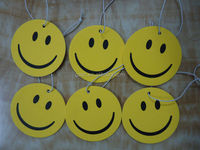 wholesale advertising hanging smile face car air freshener with card header