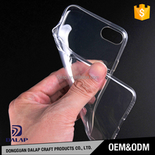 Best quality MOQ=100pcs free sample soft transparent tpu cell phone case for iphone 7 7plus