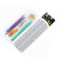 Hot Sale MB102 830 Points Solderless Prototype Breadboard + Power Supply Module+ 140 Jumper Wires for DIY Star