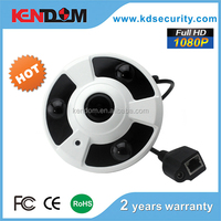 Kendom on sale high definition ir IP fisheye camera with 360 hd panoromic view