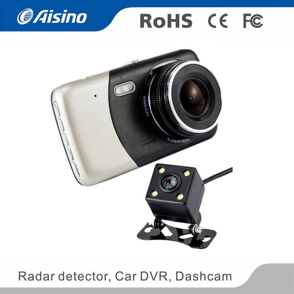 Manufacture cheap <strong>1080p</strong> 3.7 inch siliver night vision <strong>G</strong>-sensor dual Dash Camera For Cars