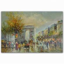 handmade beautiful scenery oil painting triumphal arch on canvas