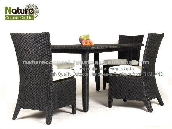Handmade Outdoor Garden Rattan Wicker Dining Furniture
