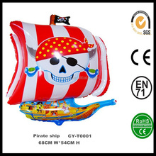 Hot sale Pirate ship helium balloon for kids,wholesale inflatable helium foil balloon
