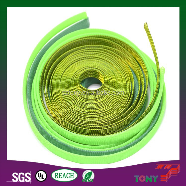 PET Braided cable wire sleeving high density for cable
