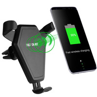 Top quality competitive price qi wireless car charger with holder wireless car charger and home
